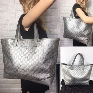 FINAL PRICE 💎HUGE PLATINUM GUCCI LEATHER T…
